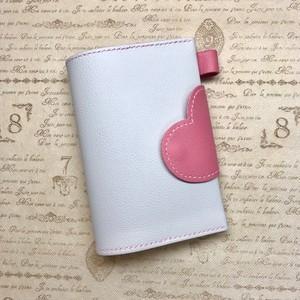 oratomiemon様★A6サイズ☆ハートで包み込むノート&ブックカバー(ピンク×ライトグレー)