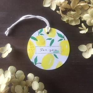 ギフトタグ【5枚セット】レモン