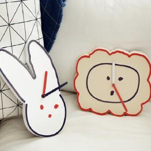 brunch brother wall clock 2types / ブランチブラザー 壁掛け時計 置き時計 ウサギ ライオン 韓国雑貨