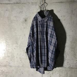 [BURBERRY] dark navy checked shirt
