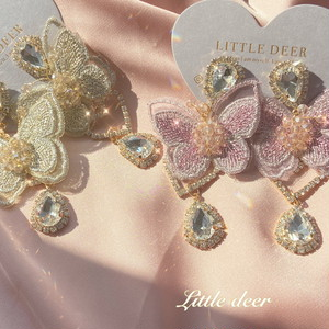 vintage butterfly  ピアス b0353