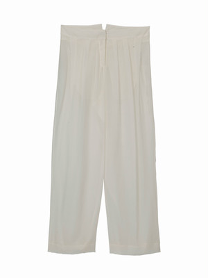Wide pants  / white / S15PT02-2