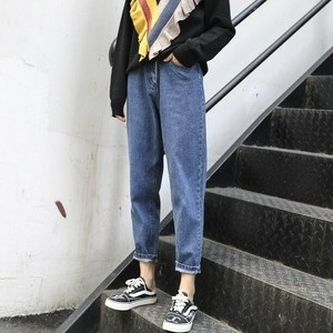 【ボトムス】新作ルーズ着瘦せファッションハイウエストデニムパンツ