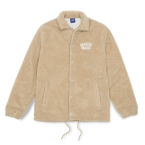 QUARTER SNACKS CHUNKY FLEECE COACH JACKET