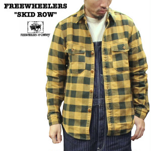 """SKID ROW"" TEAL GREEN×MUSTARD GOLD FREEWHEELERS/フリーホイーラーズ GREAT LAKES GMT. MFG. Co Lot 1933005"