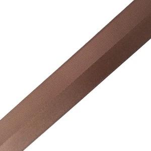 サテン グログラン ハーフパターン リボン 38mm ブラウン 2m