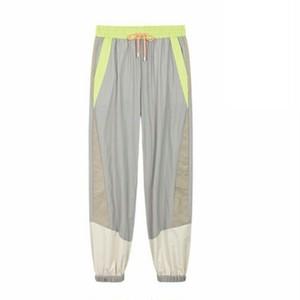 スポーティジョガーパンツにマルチカラーデザイン/ユニセックス/2色送料無料