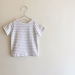 ボーダーTシャツ☆ ホワイト×グレー
