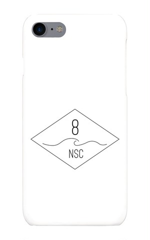 NSC(Number8 SURF CLUB)ロゴマーク iPhoneケース for iPhone8/7