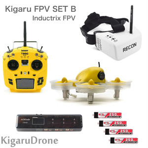 【KigaruDrone タイニーコンボセット タイプB】Blade Inductrix FPV + T8SGplus + Fatshark RECONゴーグル + 充電器 + バッテリーセット