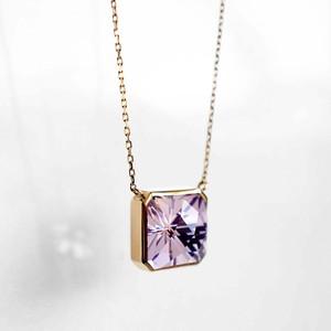 Rose Amethyst KIRIKO Necklace (Square)