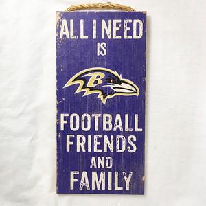 NFL ボルティモア レイブンズ Baltimore Ravens ウッド ウェルカム サインボード made in usa 2858