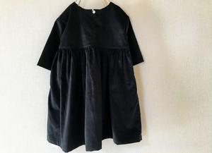 【ikko】黒のワンピース フレンチコーデュロイ size:100
