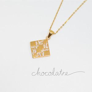 chocolatre「ガナッシュ」ゴールドペンダント