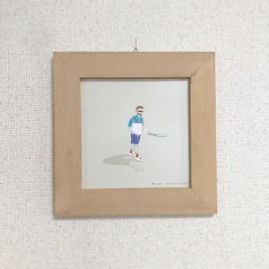 額装イラスト テニスおじさん (額)COLORFULIFEオリジナル