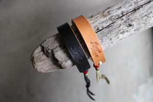 """Westerner""  15mm Plain Bracelet レザーブレスレット"