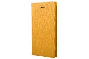 GRAMAS Shrunken-calf Full Leather Case for iPhone 7(Yellow) シュランケンカーフ 手帳型フルレザーケース