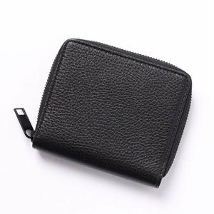 Maison Margielan (メゾン マルジェラ) 財布 折りたたみ財布 ミニ財布 コンパクト財布 ブラック レザー ユニセックス 11 ラウンドジップ ウォレット[全国送料無料] r014778