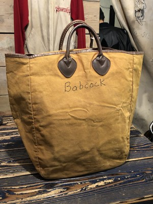 EARLY 60's LL BEAN BROWN CANVAS TOTE BAG
