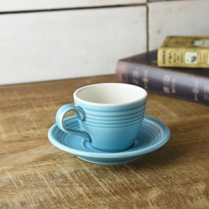 ターコイズブルー コーヒーカップ&ソーサー