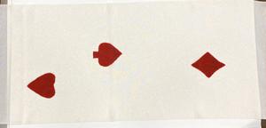 絞り帯揚げ(トランプ柄)