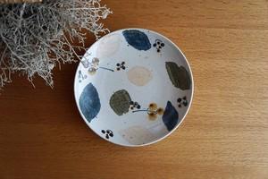 砥部焼/7寸皿/木の葉/森陶房