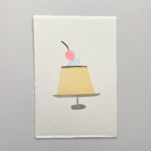 postcard (pudding プリン)
