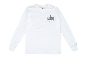 "【""USA"" vintage long sleeve】/ white"