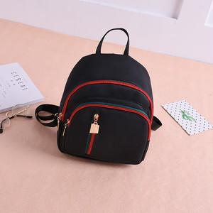 【bag】Waterproof solid color casual mini backpack