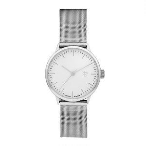NANDO MINI SILVER【CHPO】 White dial. Metal mesh wristband