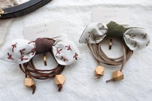 atelier N 「 リボンのポニーフック紐つき」H76,77