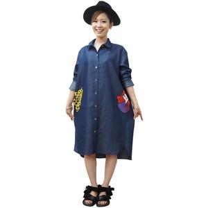 かくれんぼポケのデニム服    illustration pocket denim blouse-hide and seek-