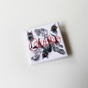 猫スクエア缶バッジ【保護猫寄付金対象商品】