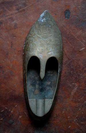 イギリス 真鍮製 灰皿 靴型 シューズ型灰皿 アシュトレイ ブラス