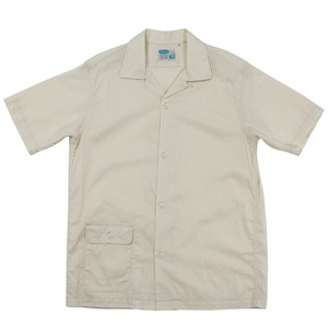 WORKERS / Open Collar Shirt Cotton Linen Cloth Ivory