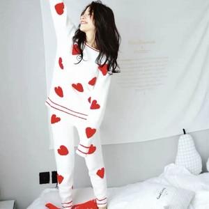 ハートもこもこルームウェア パジャマ 全3色