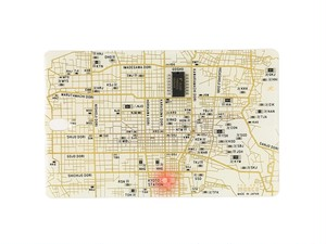 FLASH 京都回路地図 ICカードケース 白【名入れ無料サービス実施中】