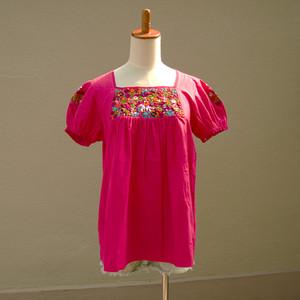 メキシコ オアハカ サン・アントニーノ 刺繍ブラウス(#MSBL6)
