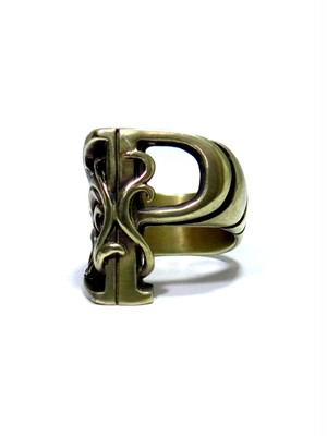 alphabet ring#P (Brass ・ 真鍮) -アルファベットモチーフ リングP-
