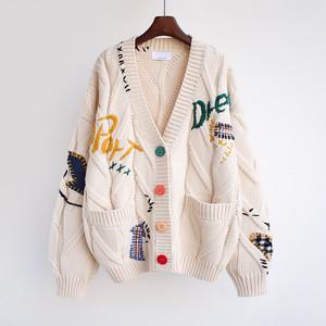 カーディガン レディース 前開き 秋冬 セーター ニット 長袖 ゆったり ニット トップス 着痩せ 1609