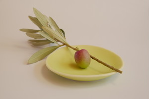[shell@3 ライム] 磁器 豆皿 直径8.5cm