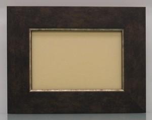 キャンバス寸法150mm×100mm×20mmが入る額縁16-3054茶額縁寸法155mm×105mm窓枠寸法141mm×91mmアクリル/エコスペース付き/箱付き完品