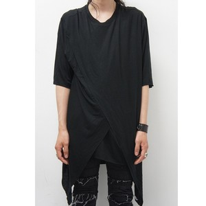JOHAN ASYMMETRICK LONG TEE/BLACK