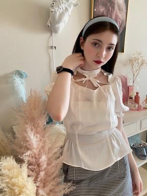 ribbon cage blouse(リボンケージブラウス)