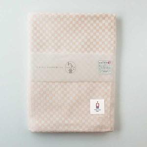わた音カラー しゅす織り バスタオル/ピンク