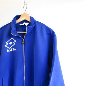 1990's lotto Logo Blue Track Jacket Jersey Import Size L