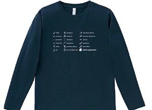 古ネウマ(ラン系)ロングTシャツ