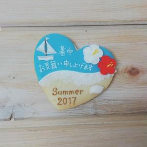 ☆夏のご挨拶に☆ビーチアイシングクッキー 1枚
