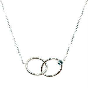 0.1ctダイヤ サークルデザイン ネックレス