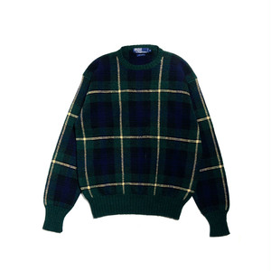 90's POLO by RALPHLAUREN BLACK WATCH SWEATER